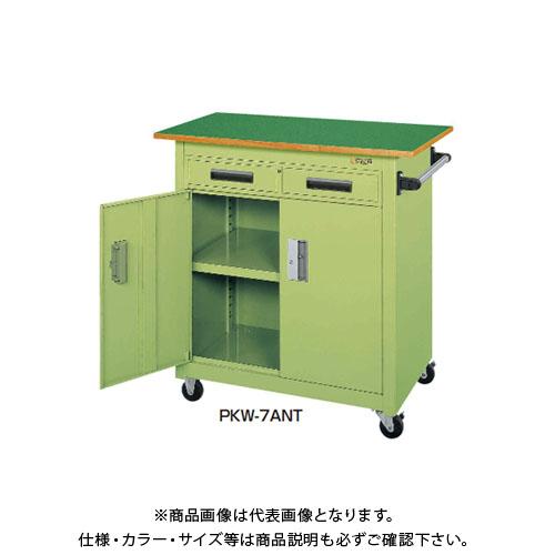 【直送品】サカエ SAKAE パネルワゴン天板付 900×600×900 サカエグリーン PKW-7ANT