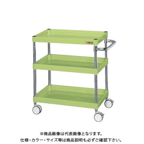 【直送品】サカエ SAKAE ニューCSパールワゴン(双輪キャスター仕様) 600×400×700 サカエグリーン CSPA-607RD