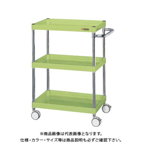 【直送品】サカエ SAKAE ニューCSパールワゴン(双輪キャスター仕様) 600×400×870 サカエグリーン CSPA-608RD