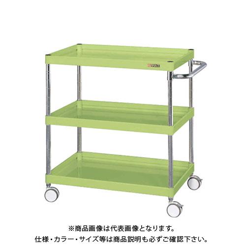 【直送品】サカエ SAKAE ニューCSパールワゴン(双輪キャスター仕様) 750×500×870 サカエグリーン CSPA-758RD