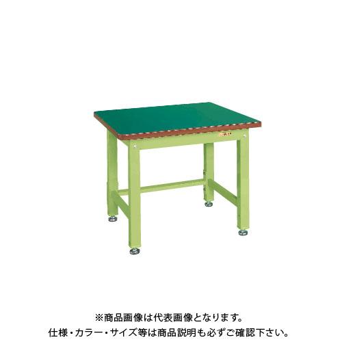【直送品】サカエ SAKAE 重量作業台KWタイプ 組立式 サカエリューム天板 900×800×740 グリーン KWF-098