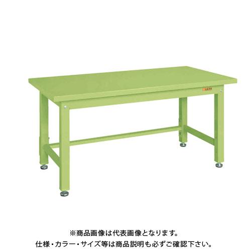 【直送品】サカエ SAKAE 重量作業台KWタイプ 組立式 スチール天板 1500×800×740 グリーン KWS-158