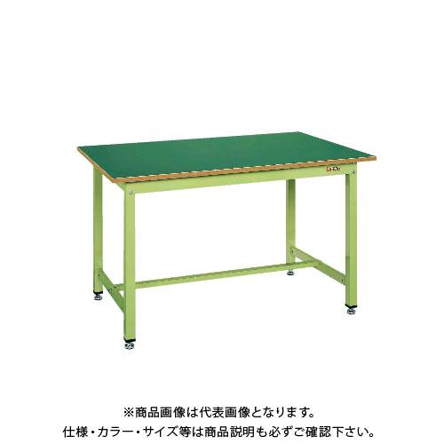 【直送品】サカエ SAKAE 中量作業台KTGタイプ 組立式 サカエリューム天板 1500×750×900 グリーン KTG-593F