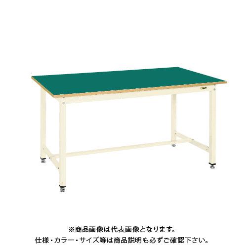 【直送品】サカエ SAKAE 中量作業台KTGタイプ 組立式 サカエリューム天板 1800×900×900 グリーン KTG-703F