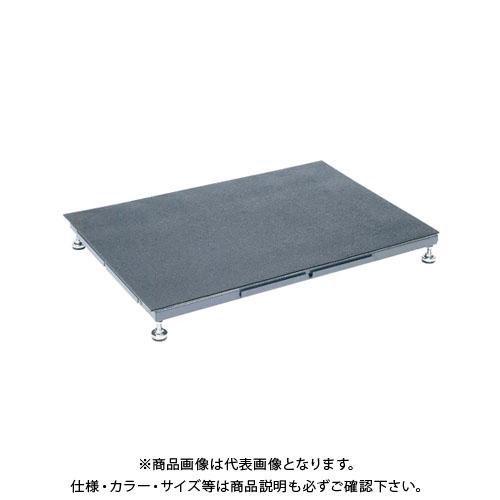 【直送品】サカエ SAKAE 足踏台(すべり止めマット付)連結タイプ低床用 900×600×100~120 グレー SA-0960