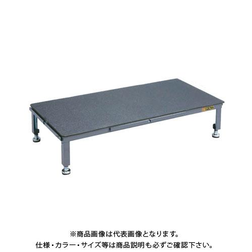 【直送品】サカエ SAKAE 足踏台(すべり止めマット付)連結タイプ高床用 900×450×200~300 グレー SA-0945H