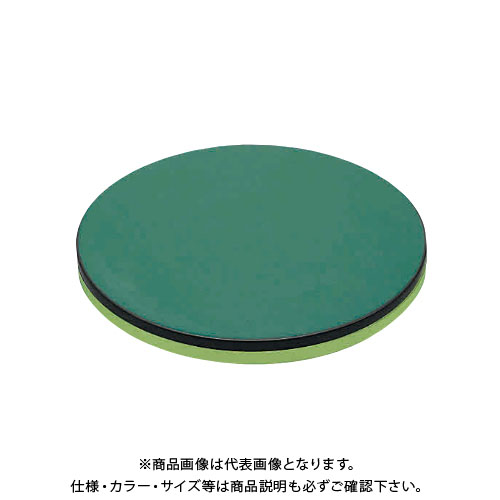 【直送品】サカエ SAKAE クルクル回転盤(改正RoHS10物質対応サカエリューム天板) 590φ グリーン KUS-600FTE