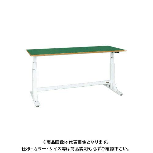 【直送品】サカエ SAKAE 電動昇降作業台(中量タイプ) サカエリューム天板 1500×600×650~1100 ホワイト DLK-156FWN