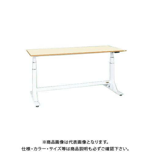 【直送品】サカエ SAKAE 電動昇降作業台(中量タイプ) ポリエステル天板 1200×600×650~1100 ホワイト DLK-126IPWN