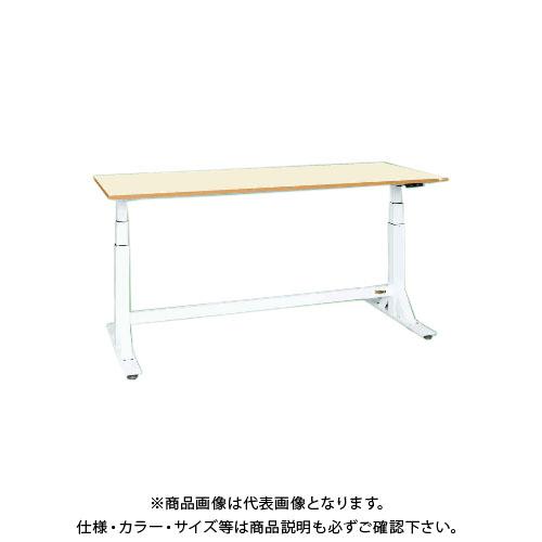 【直送品】サカエ SAKAE 電動昇降作業台(中量タイプ) ポリエステル天板 1500×600×650~1100 ホワイト DLK-156IPWN