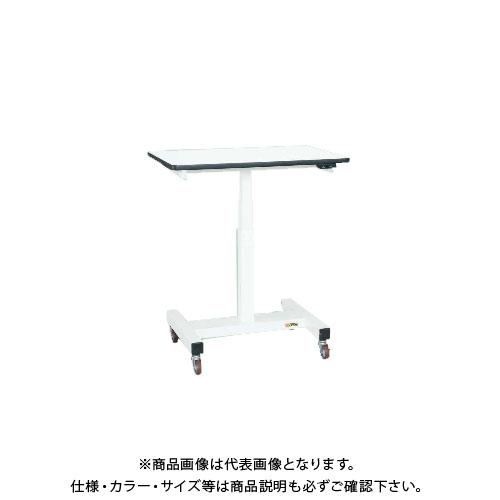 【直送品】サカエ SAKAE 電動昇降作業台(軽量タイプ) リエステル天板(パールホワイト) 900×600×700~1100 ホワイト DLK-096SW