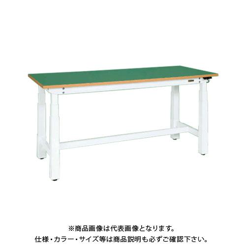 【直送品】サカエ SAKAE 電動昇降作業台(重量タイプ) サカエリューム天板 1500×750×660~1100 ホワイト DLK-157FAW