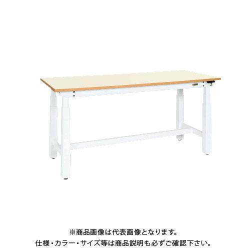 【直送品】サカエ SAKAE 電動昇降作業台(重量タイプ) メラミン天板 ホワイト DLK-127IMAW