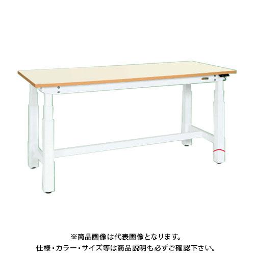 【直送品】サカエ SAKAE 電動昇降作業台(重量タイプ) メラミン天板 1800×900×660~1100 ホワイト DLK-189IMAW