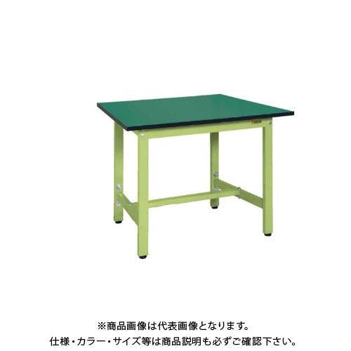 【直送品】サカエ SAKAE 軽量高さ調整作業台TKSタイプ(改正RoHS10物質対応) 組立式 900×750×740~900 グリーン TKS-097FE