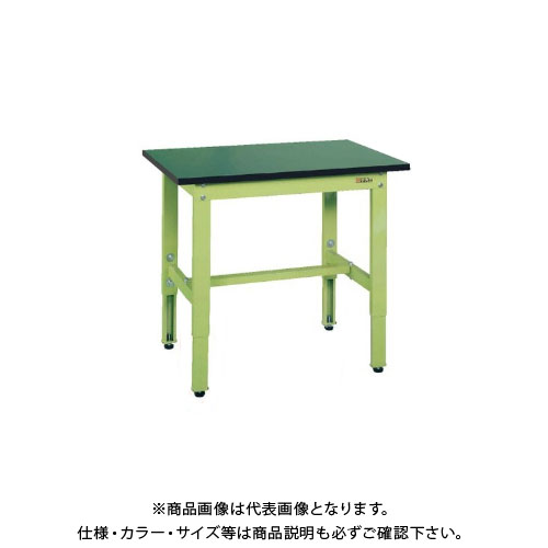 【直送品】サカエ SAKAE 軽量高さ調整作業台TKK6タイプ(改正RoHS10物質対応) 組立式 900×750×600~800 グリーン TKK6-097FE