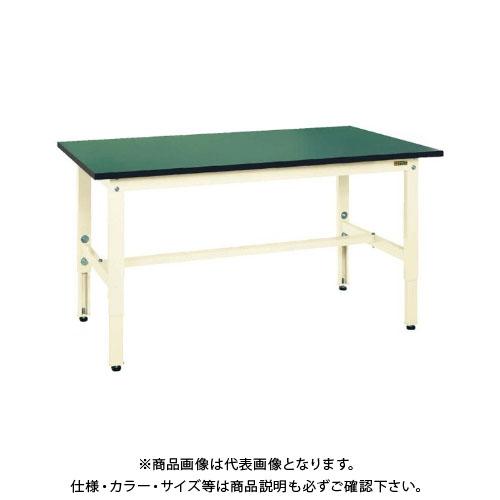 【直送品】サカエ SAKAE 軽量高さ調整作業台TKK6タイプ(改正RoHS10物質対応) 組立式 1800×600×600~800 グリーン TKK6-186FE