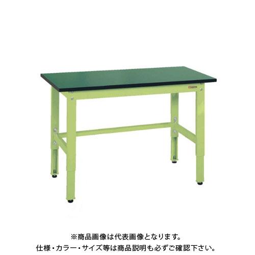 【直送品】サカエ SAKAE 軽量高さ調整作業台TKK8タイプ(改正RoHS10物質対応) 組立式 1500×600×800~1000 グリーン TKK8-156FE