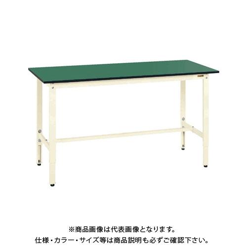 【直送品】サカエ SAKAE 軽量高さ調整作業台TKK8タイプ(改正RoHS10物質対応) 組立式 1500×600×800~1000 アイボリー TKK8-156FEI