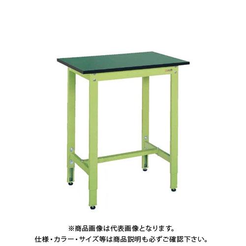 【直送品】サカエ SAKAE 軽量高さ調整作業台TKK9タイプ(改正RoHS10物質対応) 組立式 1200×600×900~1000 グリーン TKK9-126FE