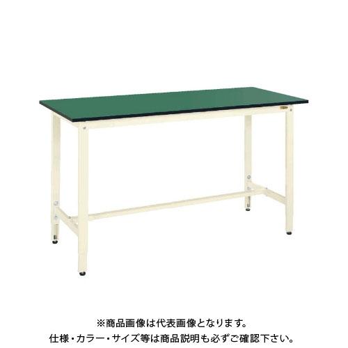 【直送品】サカエ SAKAE 軽量高さ調整作業台TKK9タイプ(改正RoHS10物質対応) 組立式 1800×600×900~1100 グリーン TKK9-186FE