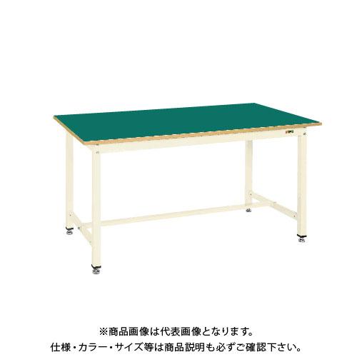 【直送品】サカエ SAKAE 中量作業台KTGタイプ 組立式 サカエリチューム天板 900×750×900 アイボリー KTG-393FIG