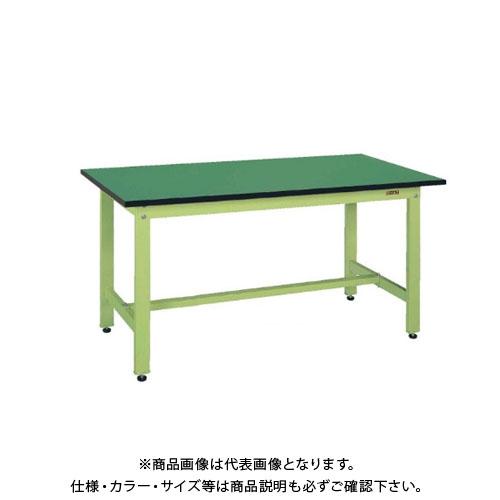 【直送品】サカエ SAKAE 軽量作業台KKタイプ(改正RoHS10物質対応) 組立式 1800×600×740 グリーン KK-68FE