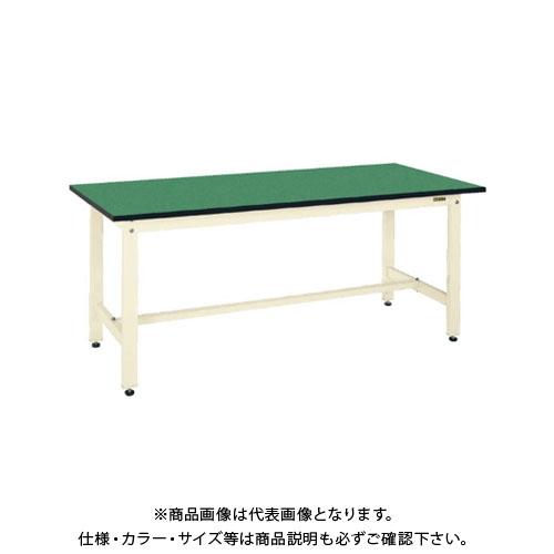 【直送品】サカエ SAKAE 軽量作業台KKタイプ(改正RoHS10物質対応) 組立式 1800×600×740 アイボリー KK-68FEI