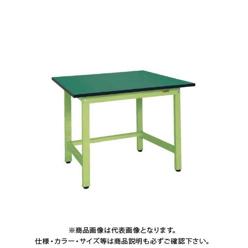 【直送品】サカエ SAKAE 軽量作業台KSタイプ(改正RoHS10物質対応) 組立式 900×750×740 グリーン KS-097FE