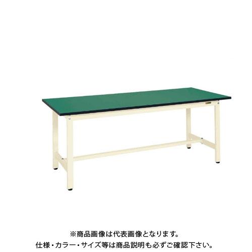 【直送品】サカエ SAKAE 軽量作業台KSタイプ(改正RoHS10物質対応) 組立式 1500×600×740 グリーン KS-156FE
