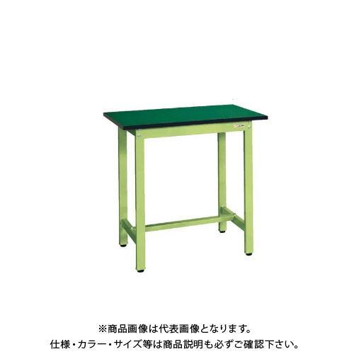 【直送品】サカエ SAKAE 軽量立作業台KSDタイプ(改正RoHS10物質対応) 組立式 1200×600×900 グリーン KSD-126FE