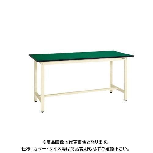 【直送品】サカエ SAKAE 軽量立作業台KSDタイプ(改正RoHS10物質対応) 組立式 1500×600×900 グリーン KSD-156FE