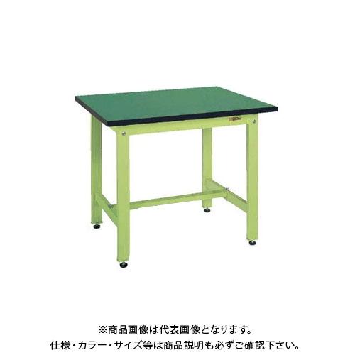 【直送品】サカエ SAKAE 中量作業台CSタイプ(改正RoHS10物質対応) 組立式 1200×750×740 グリーン CS-127FE