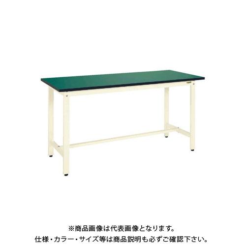【直送品】サカエ SAKAE 中量立作業台KTDタイプ(改正RoHS10物質対応) 組立式 1200×750×900 グリーン KTD-493FE