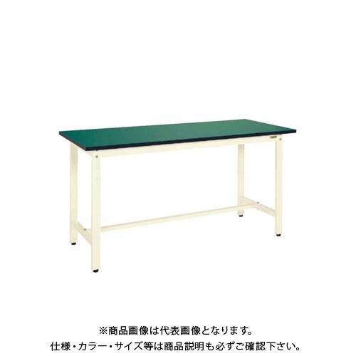 【直送品】サカエ SAKAE 中量立作業台KTDタイプ(改正RoHS10物質対応) 組立式 1800×750×900 グリーン KTD-693FE