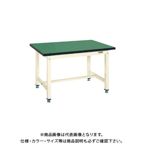 【直送品】サカエ SAKAE 中量作業台KTタイプ(改正RoHS10物質対応) 組立式 900×600×740 グリーン KT-383FE
