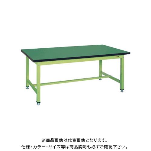 【直送品】サカエ SAKAE 中量立作業台KTGタイプ(改正RoHS10物質対応) 組立式 1200×750×900 グリーン KTG-493FE