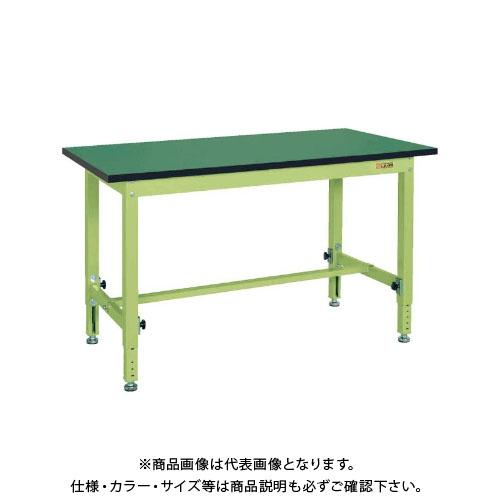 【直送品】サカエ SAKAE 中量高さ調整作業台TKTタイプ(改正RoHS10物質対応) 組立式 900×600×740~1040 グリーン TKT-096FE