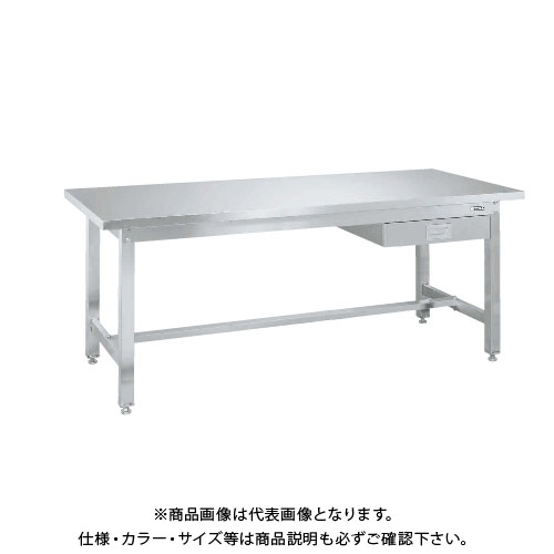 【直送品】サカエ SAKAE ステンレス作業台重量タイプ(重量タイプ・キャビネット付) 1800×750×740 SUW4-187B