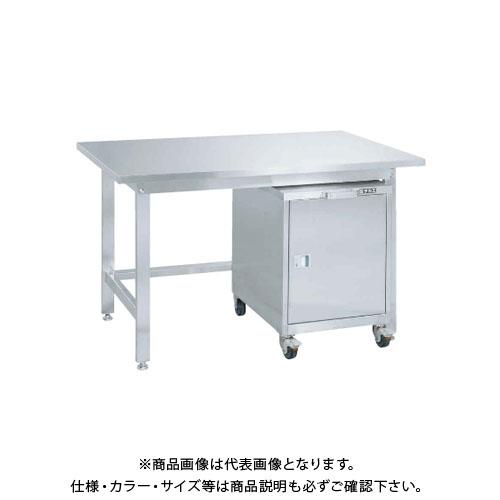 【直送品】サカエ SAKAE ステンレス作業台キャビネットワゴン(SS-FC)付 1200×750×704 SUS3-127FC