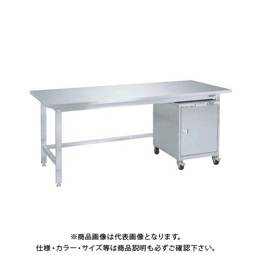 【直送品】サカエ SAKAE ステンレス作業台キャビネットワゴン(SS-FC)付 1800×750×740 SUS3-187FC