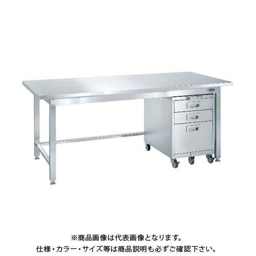 【直送品】サカエ SAKAE ステンレス作業台キャビネットワゴン(SS-EC)付 1800×750×740 SU3-187EC