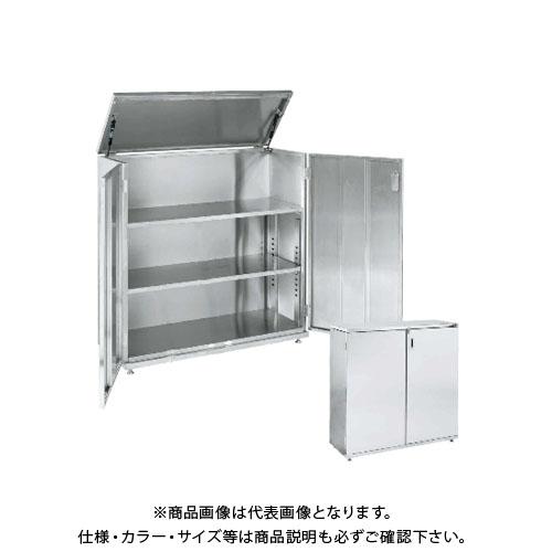 【直送品】サカエ SAKAE ステンレス上扉開放保管庫(ステンレスタイプ・固定式) 1055×415×1080 SU-UKB