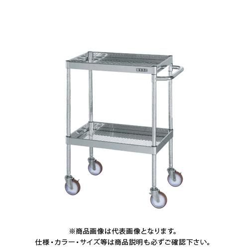 【直送品】サカエ SAKAE ステンレスニューCSパールワゴン(パンチング仕様) 2段 600×400×880 CSPA-6082SSP