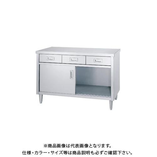 【直送品】シンコー キャビネット作業台 750×600×800 ED-7560