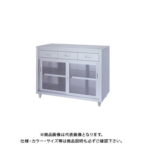 【直送品】【受注生産】シンコー ステンレス保管庫(一段式/引出付) 900×600×950 LADG-9060