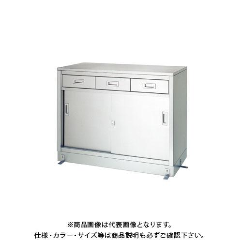 【直送品】【受注生産】シンコー ステンレス保管庫(一段式/引出付) 1800×450×950 LD-18045