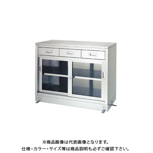 【直送品】【受注生産】シンコー ステンレス保管庫(一段式/引出付) 1200×450×950 LDG-12045