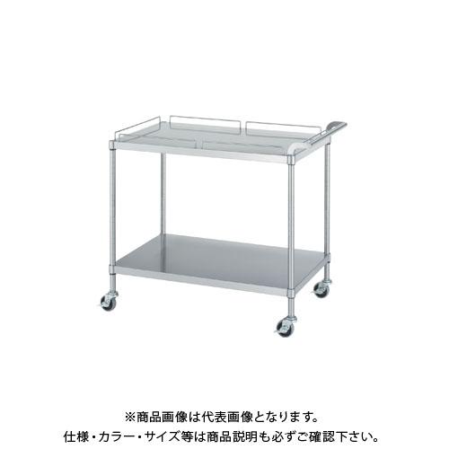 【直送品】シンコー ステンレスワゴン 750×600×800 M11-7560-U75