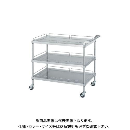 【直送品】シンコー ステンレスワゴン 900×450×800 M30-9045-U75